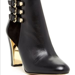 Louise et Cie Black and Gold Lo-Albach Booties